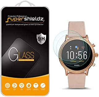 (3 Pack) Supershieldz for Fossil Gen 5 Smartwatch Julianna HR Tempered Glass Screen Protector, Anti Scratch, Bubble Free