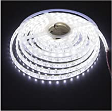 KINGLUX Led Strip, Waterproof Led Light Strip Super Bright DC12V 25W SMD3528 300LEDs, IP68 Led Underwater Lights Cool White 6000K 5Meter/ 16.4Feet Using for Homes, Swimming Pool,Garden and Outdoor