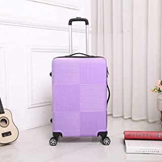 Universal Wheel Password Box Trolley case Female Hard Shell ABS Material Luggage Purple 28 inch