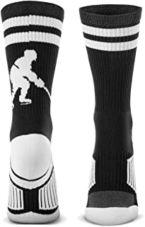 ChalkTalkSPORTS Hockey Half Cushioned Crew Socks   Hockey Player   Multiple Colors