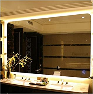 MTFZD Espejo con luz de baño LED de luz de Fondo aparador de Pared Suspensión Horizontal Interruptor del Tacto (Size : 50...