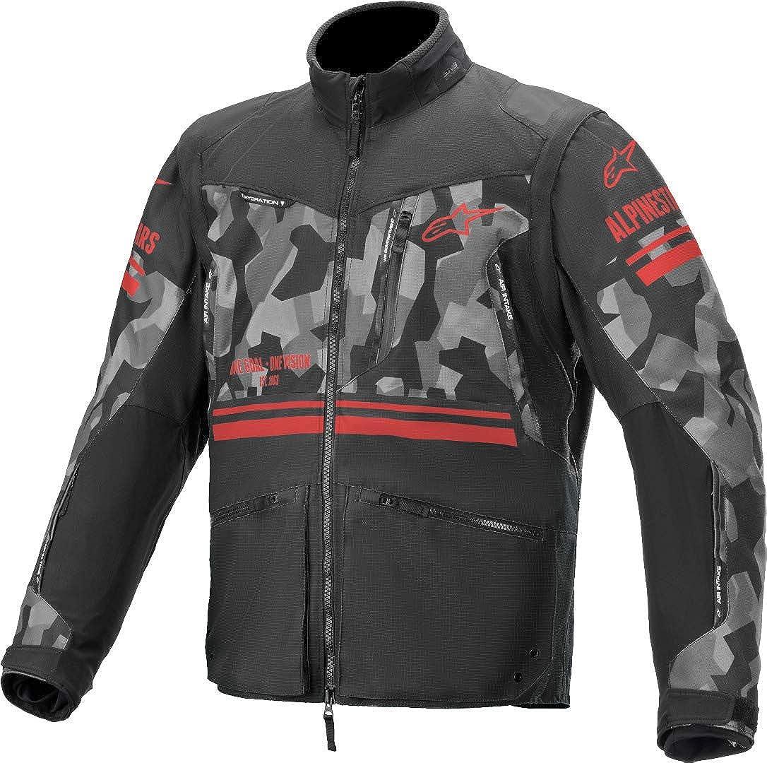 Alpinestars famous Unisex-Adult Venture R Ranking TOP2 Jacket Grey Camo Red Fluo Sm