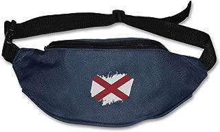 Heard Me Unisex Flag Of Alabama Fanny Pack Waist Bag Phone Holder Adjustable Running Belt For Cycling,Hiking,Gym