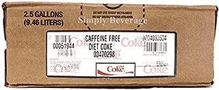 Diet Coke Caffeine Free Soda Syrup Concentrate BIB Bag In Box (2.5 gallon)
