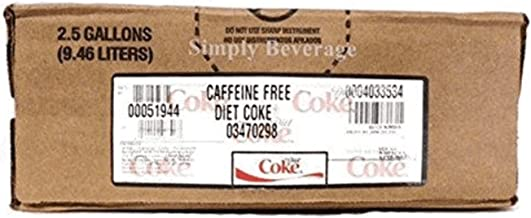 Diet Coke Caffeine Free Soda Syrup Concentrate BIB Bag In Box (2.5 gallon)