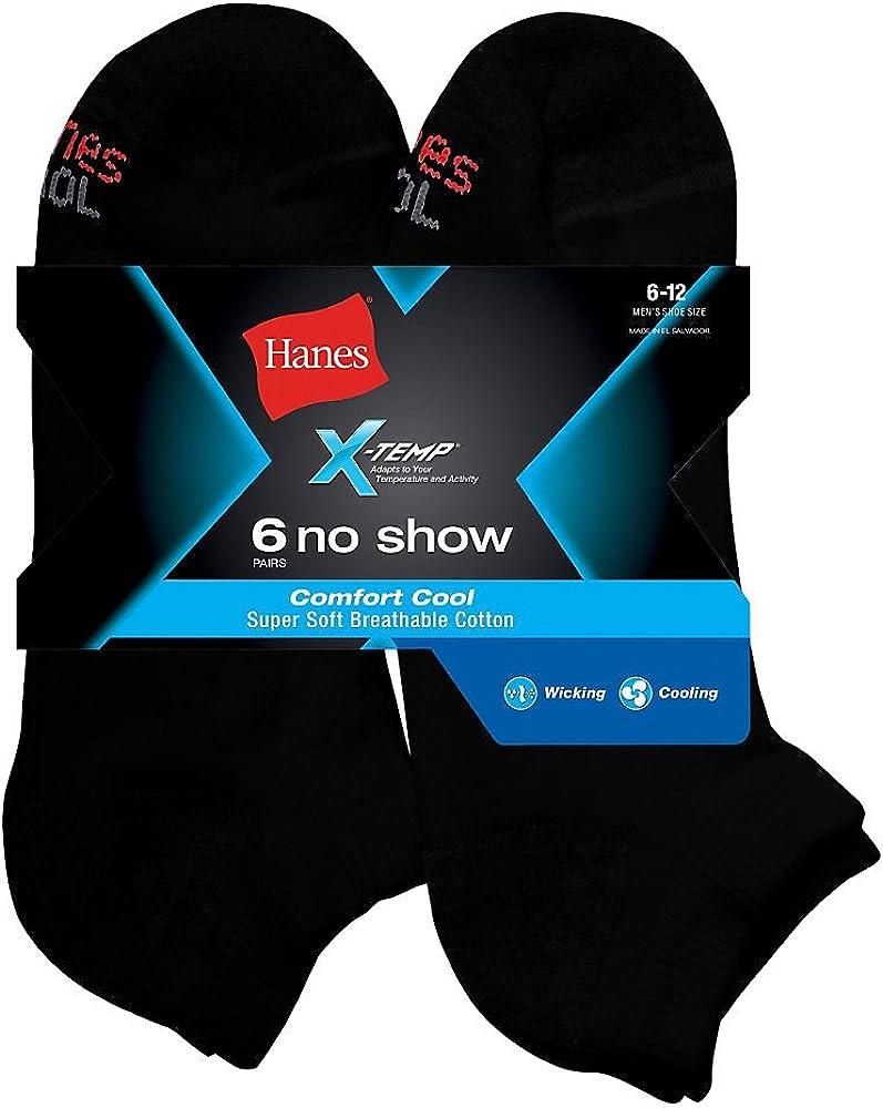 Hanes Men's X-Temp Comfort Cool No Show