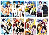 Free! Iwatobi Swim Club Poster Set of 8 Anime Wall Art For Room Decoration, 16.5'x11.5', on Embossed Coated Poster Paper