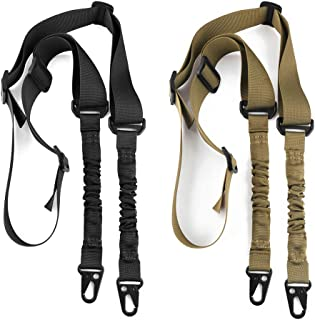 Accmor 2 Point Rifle Sling Extra Long Gun Strap, Two Point Traditional Sling with Metal Hook for Outdoor Sports