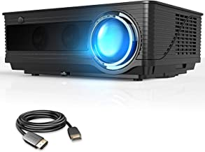 VIVIMAGE Cinemoon 580 Projector1080P Supported, 4000 Lux High Brightness Video Projector with 200