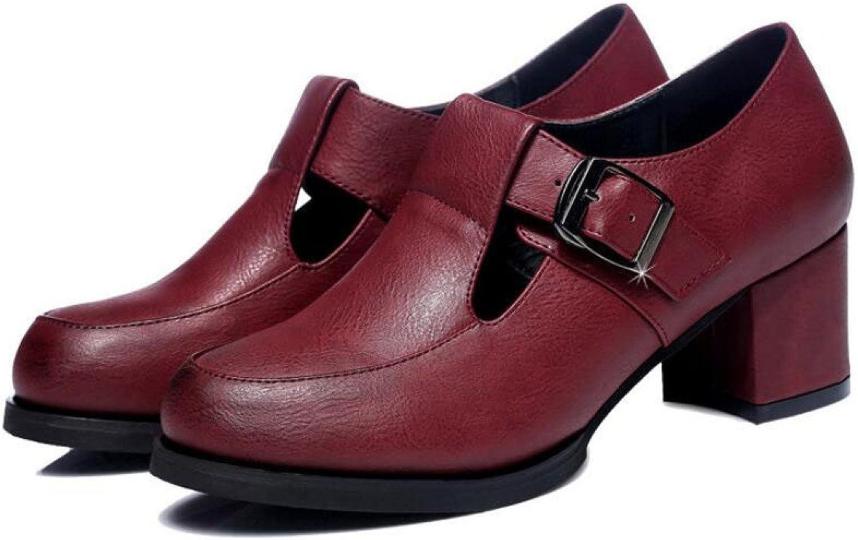 MUYII Damen Lederschuhe Frühling Und Sommer Neue Saison Mit Koreanischen Schuhe Mode Lssig Wasserdicht Rutschfeste Schuhe