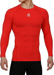 ARMEDES Men's Compression Quick Dry Baselayer Activewear Light Weight Long Sleeve T-Shirt