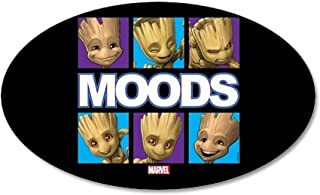 CafePress GOTG Groot Moods 20x12 Oval Wall Decal, Vinyl Wall Peel, Reusable Wall Cling