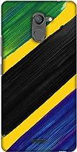 AMZER Slim Designer Snap On Hard Shell Case for Infinix Hot 4 Pro - Tanzania Flag- Brush Strokes