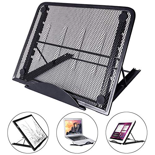 LURICO Ajustable Ergonómico PC Laptop Soporte Stand, Portátil Plegable Ventilado Stand Soporte para PC/Tableta/Portátil/Notebook/Macbook Air