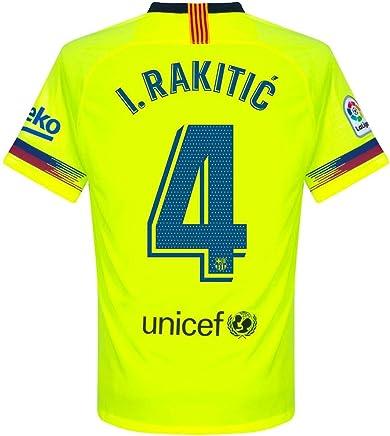 673869925 Barcelona Away I. Rakitic 4 Jersey 2018 2019 (Official Pro Size Printing)