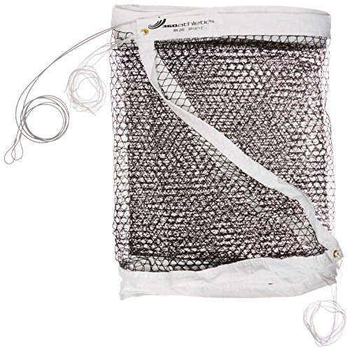 360 Athletics Championship Badminton Net (Cable Top), Black