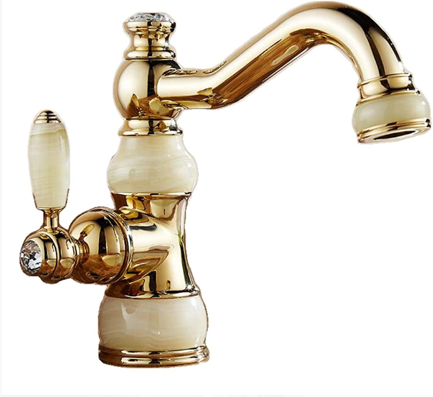 Xinxin Full Copper Jade Faucet Turned Out Of The Water Basin Art Basin Hot And Cold Water Faucet