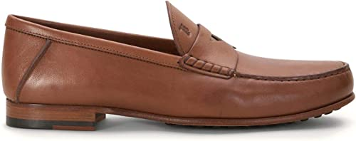 Tod& 039;s - braun Leather Mocassin with Penny bar - XXM11A00010TUSS813