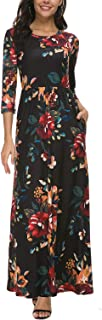 Best casual long black dress with sleeves Reviews