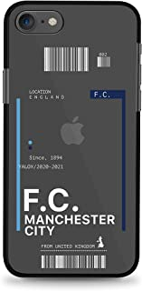 Yalox iPhone 7/8/SE (2nd Gen) Case Manchester City Full Body Rugged Case with Built-in Touch Sensitive Anti-Scratch Screen...