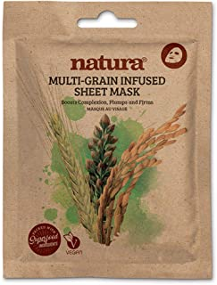 Natura MULTI-GRAIN Infused Sheet Mask By BeautyPro, Boosts Complexion, Cell Renewing, Anti-Ageing Formula Face Mask 30g