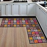 HLXX Alfombrillas de cocina lavables, antideslizantes, largas para puerta de baño, dormitorio, sala de estar, mesilla de noche, tamaño A6, 40 x 60 cm