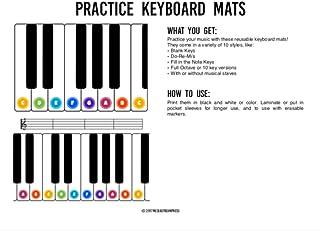 Practice Keyboard Mats - printable piano keyboard sheets for