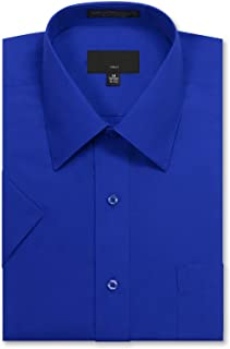 JD Apparel Men's Regular Fit Short-Sleeve Dress Shirts