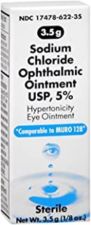 Akorn Sodium Chloride 5% Ophthalmic Ointment 3. 5 gm