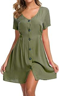 LOMON Vintage Dresses for Women Ruffle Polka Dot Casual...