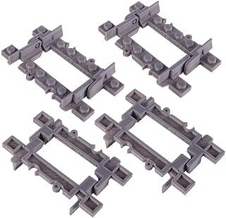 Bastens Hinge Toy Train Track Rail Incline Decline Drawbridge Bridge Compatible with Lego City kit Trixbrix Enlighten Slick Bricks Straight Curved Splitter Flexible