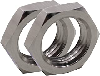 DERNORD Cast Pipe Fitting Stainless Steel 304 Hex Locknut 1/2 Inch NPT Female (Pack of 2)