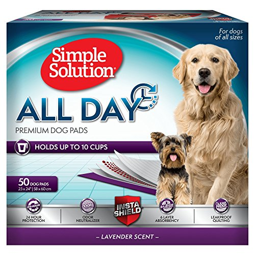 Simple Solution 6-Layer All Day Premium Dog Pads, 23 x 24, Lavender Scent, 50 pads