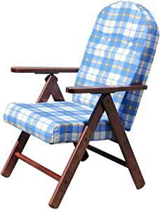 POLTRONA SEDIA SDRAIO AMALFI COLORE BLU in legno reclinabile 4 posizioni