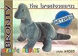 BBOC Cards TY Beanie Babies Series 1 Retired (Blue) - BRONTY The Brontosaurus