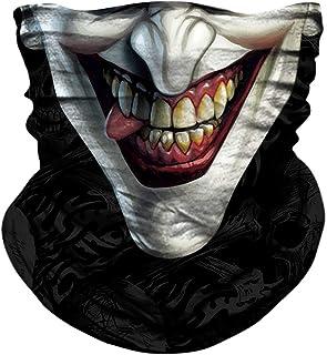JOEYOUNG Skull Face Mask UV Sun Mask Dust Neck Gaiter Bandana Headwear Fishing