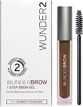 WUNDER2 WUNDERBROW Long Lasting Eyebrow Gel for Waterproof Eyebrow Makeup, Auburn Color