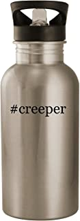 #creeper - Stainless Steel Hashtag 20oz Road Ready Water Bottle, Silver