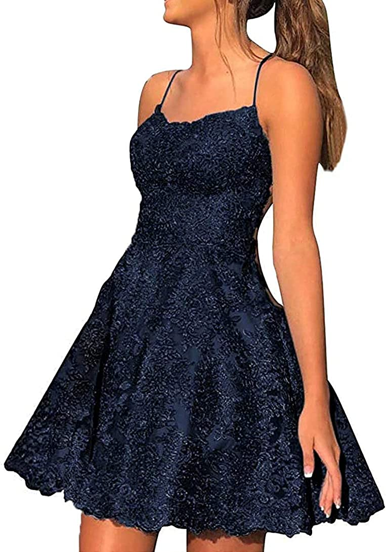 King Noiva Homecoming Dresses for Teens Short Prom Dress Lace Cocktail Dress Backless Prom Dress for Party COO37