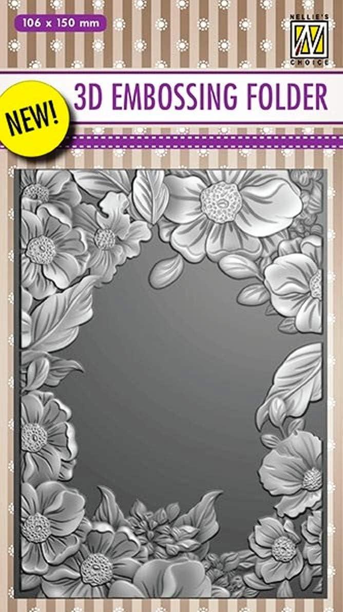 Nellie Embossing 3D Folder Frame Bargain sale - New arrival Flower
