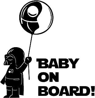 Oedim Pegatina Baby on Board Globo Negro | 20 x 20 cm | Adhesivo de Fácil Colocación | Pegatina para Coche Económica y Resistente