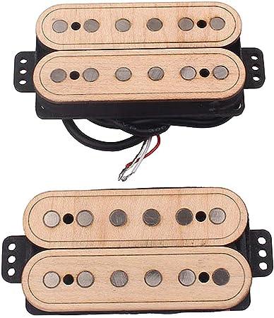 Masterbuirt 木製ハムバッカーセット KESOTO ギターハムバッカー ブリッジ/ネックピックアップ
