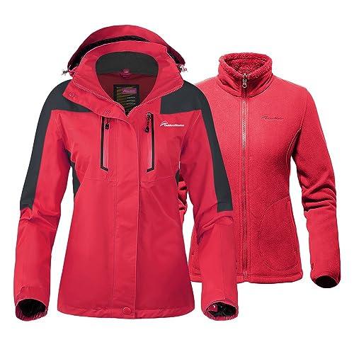 OutdoorMaster Women s 3-in-1 Ski Jacket - Winter Jacket Set with Fleece  Liner 7b1d564ed