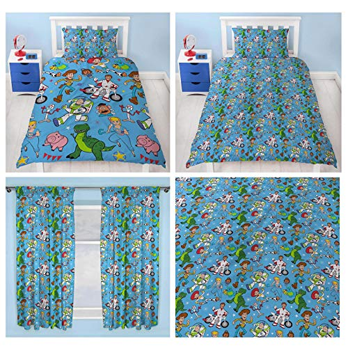 Toy Story 4 Rescue Single Duvet Cover Set + Matching Curtains 54' Drop
