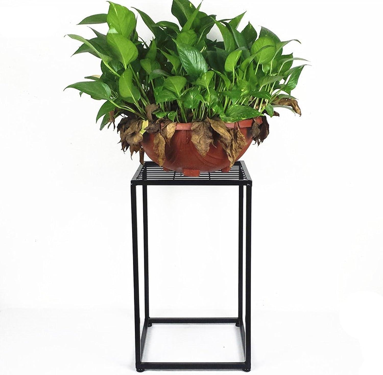 SYF Living Room Balcony Indoor Iron Flower Pot Rack Modern Minimalist Floor-Standing Flower Stand A+ (Size   30  80cm)