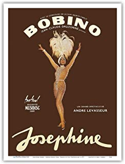 Pacifica Island Art - Josephine Baker - African American Entertainer - Bobino Music Hall, France - Vintage Theater Poster by Guy Ventouillac c.1975 - Master Art Print - 9in x 12in