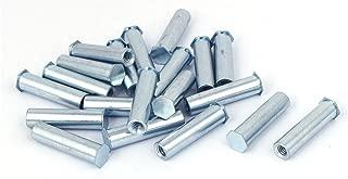 Aexit M6 x Nails, Screws & Fasteners 35mm Full Thread Hex Head Clinch Stud Self Clinching Blind Nut & Bolt Sets Standoff 20PCS