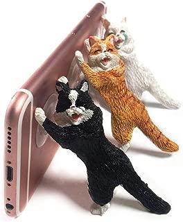 YGMONER Resin Cat Phone Sucker Holder Sucker Tablet Desk Holder Compatible with iPhone Kindle iPad A Set