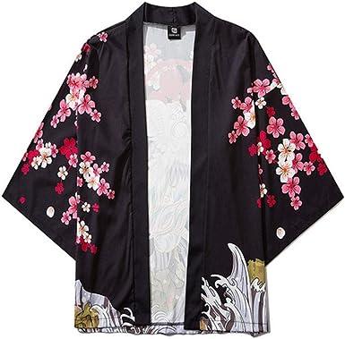 Hombres Mujeres Kimonos Ropa Japonesa Kimono Cardigan Cosplay ...
