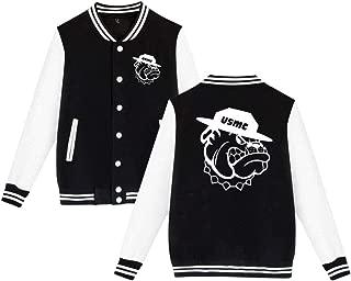 LlWINyyZ Unisex Marine Corps Bulldog USMC Logo Comfortable Baseball Uniform Jacket Sport Coat Plus Velvet